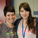 With Amber Benson