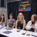 From the left: Amber Benson, me, Kerry Schafer, and Anne Bishop.
